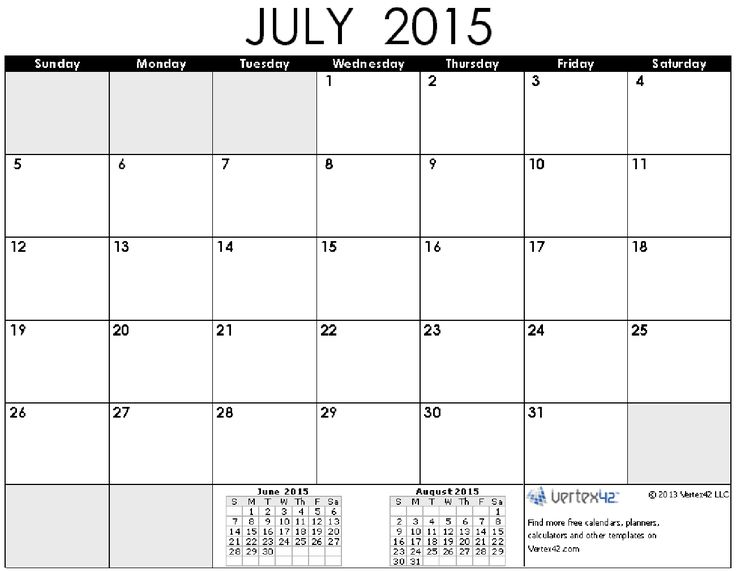 July 2015 Calendar Free Printable - Get an exclusive collection of July 2015 Calendar Free Printable Template, Word, Doc, Pdf and Holidays in US, UK, NZ, Canada, Australia.