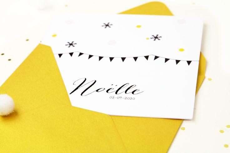 Gouden details zijn heel trendy! Zoals deze gouden envelop bij dit geboortekaartje met kleine gouden stippen. #geboortekaartje #baby #hip #goud #trend #2017 #meisje #winter #birthannouncement #kerst