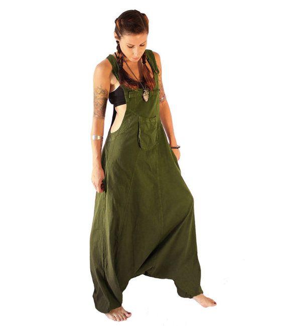 Olive Aladdin Harem Jumpsuit  tuinbroek  Overalls  vrouwen