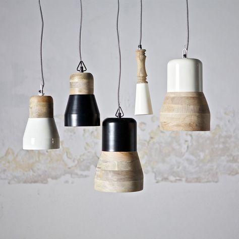 Hängelampen Deckenlampe Esszimmerlampe Leuchte Lampe Holz Shabby Weiss  Schwarz In Möbel U0026 Wohnen, Beleuchtung,