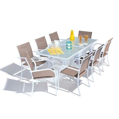 Les 25 meilleures id es concernant table jardin extensible for Table extensible terrasse