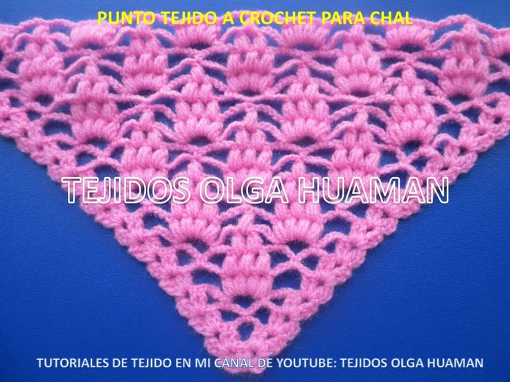 Mejores 14 imágenes de puntos a crochet para chal en Pinterest ...