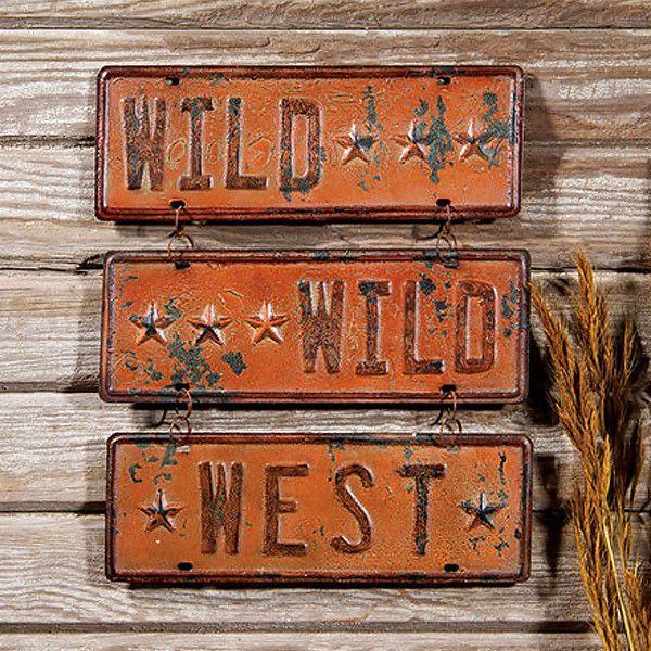 Wild Wild West Tin Sign 38610   Buffalo Trader Online