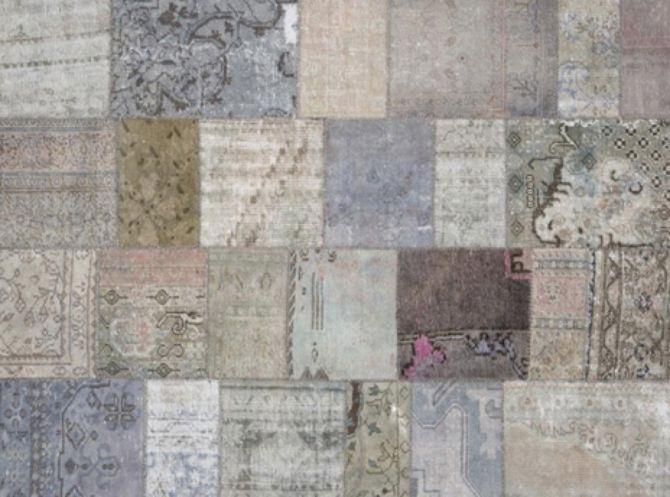 Oude perzische tapijten grijs