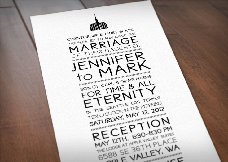 lds temple wedding invite wording let 39 s skip to the good part pin