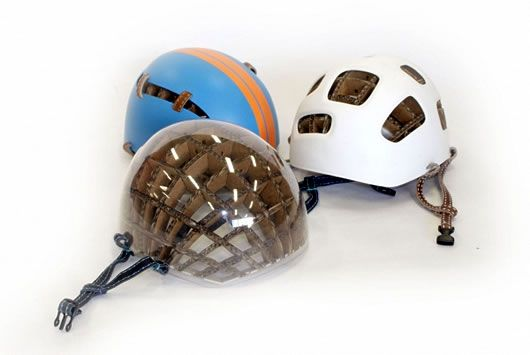 Kranium helmet with carboard crush layer