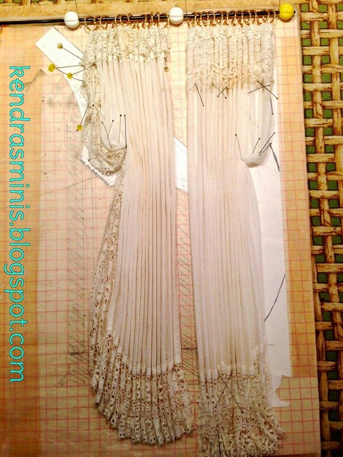 Excellent tutorial. I would add using Mrs. Stewart's bluing on yellowed fabric. . Kendra's Minis: Tutorial - Drapes or Curtains from Vintage Hankies