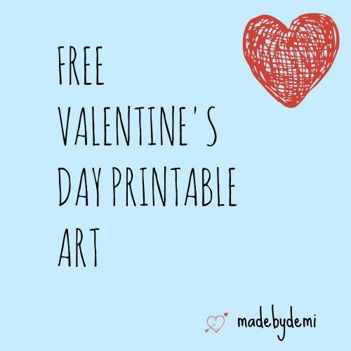 Free Valentine's Day Printable Art.