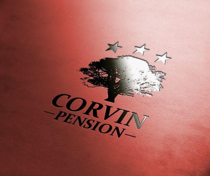 Corvin logo mockup
