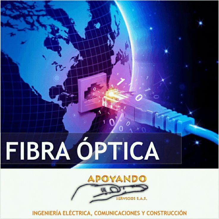 Somos líderes en Fibra Óptica contáctenos comercial@apoyandoservicios.com