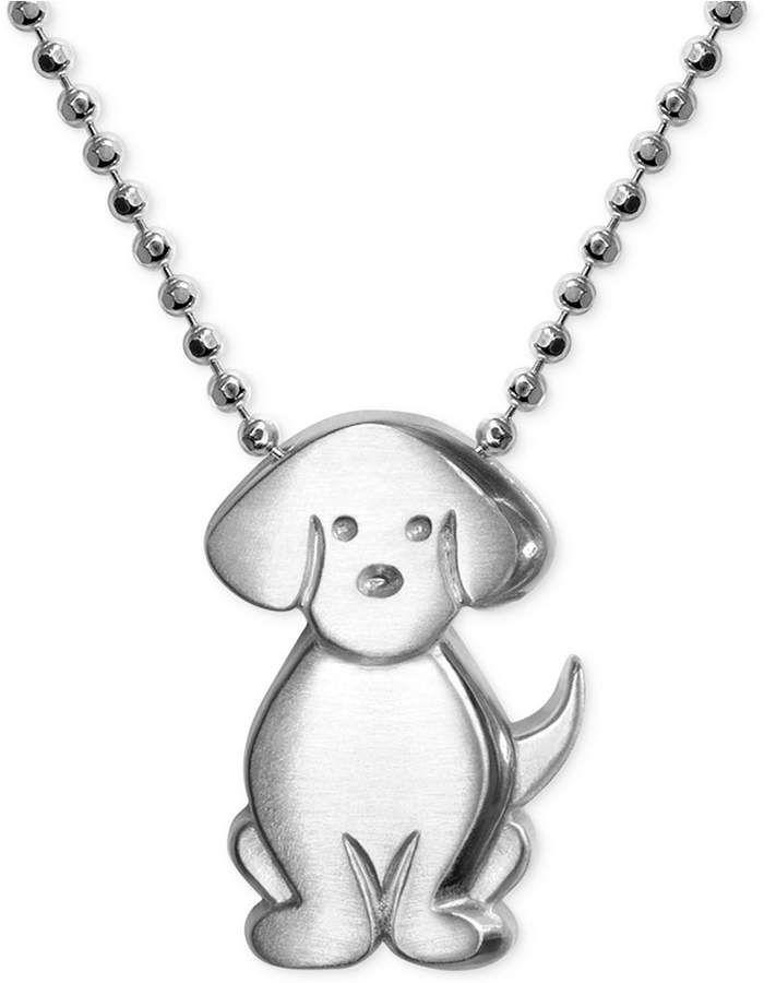 Little Dog Zodiac Pendant Necklace in Sterling Silver