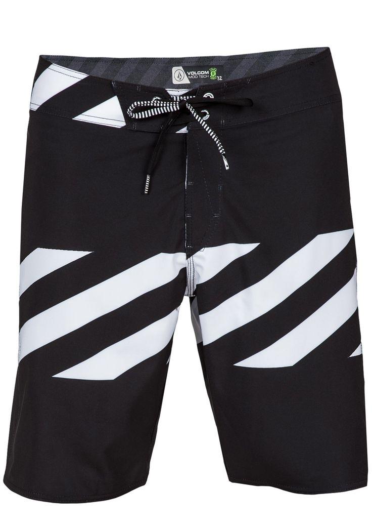 Volcom Men's Macaw Mod Boardshorts in black