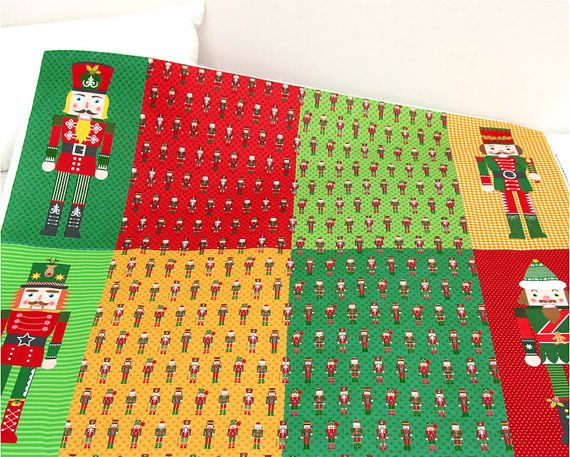 #Cotton fabric  #Christmas Season toy Soldier  Korea by FabricKorea, $21.00