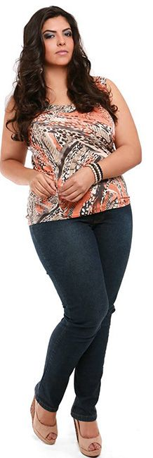 Regata Plus Size estampa