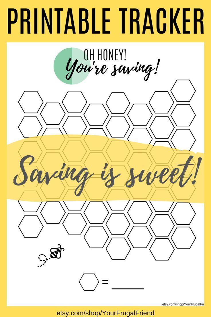 Honeycomb Savings Tracker Emergency Fund Goal Printable Emergency Fund Tracker Savings Thermometer Emergency Fund Emergency Fund Saving Savings Tracker [ 1104 x 736 Pixel ]