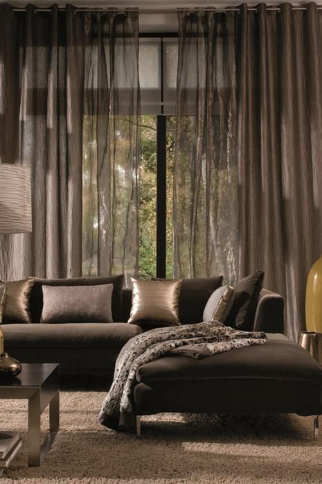 One of Adamo's favourite fabric supplier - Casamance #casamance #interiordesign http://www.bykoket.com/blog/luxury-curtain-designs-decor-home/