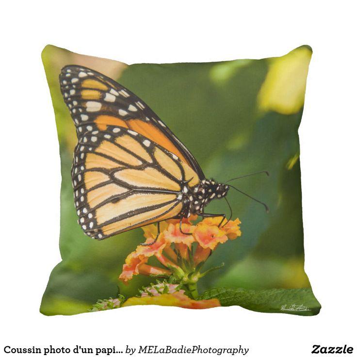 Coussin photo d'un papillon