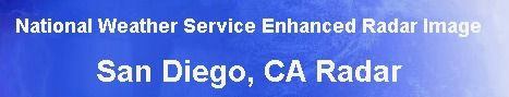 NWS radar image of San Diego, California