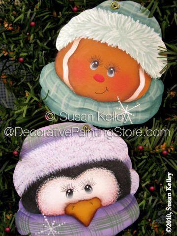Christmas Cuties ePacket - Susan Kelley - PDF DOWNLOAD #SusanKelley #GingerbreadPenguinOrnamentPattern  #ePattern #DecorativePaintingStore.com #PaintingPattern