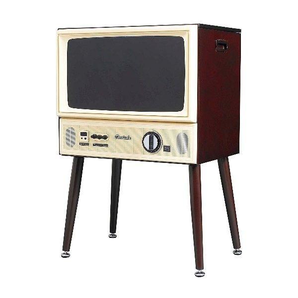 ●1970年代のブラウン管テレビをデザインモチーフとし、本体には木素材を採用!●チャンネルダイヤルや音量ダイヤルを回して操作する楽しさ!●テレビ周りの小物をまとめて天面収納へ●お手持ちのレコーダー・プレーヤーは前面収納に●テレビ台短脚付属【仕様】パネルサイズ 20V型 画素数 1366×768 受信チャンネル 地上デジタル放送(CATVパススルー対応)/BS・110度CSデジタル放送 本体サイズ(約) 長脚時 幅520×奥行350×高さ789mm 短脚時 幅520×奥行350×高さ485mm 本質重量(約) 長脚時 12.1kg 付属品 リモコン、単4形乾電池(お試し用)、mini B-CASカード、長脚、短脚(ネジ付)、ACアダプター、電源コード、DCケーブル、シガーソケット用ケーブル、取扱説明書、保証書