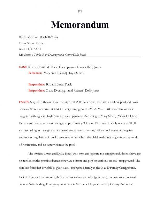 Legal Memorandum Example Memorandum Memo Template Internal Memo