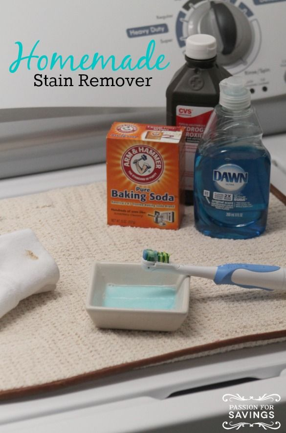 Find out how easy it is to make your own Homemade Stain Remover! This Should DIY Recipe will save you money plus hopefully save some of your favorite articles of clothing as well!