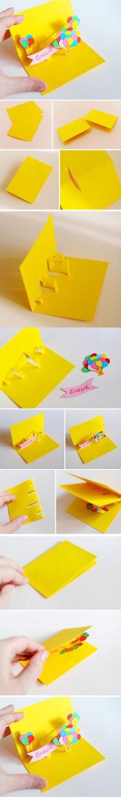 Genial tutorial para hacer una tarjeta en 3D...