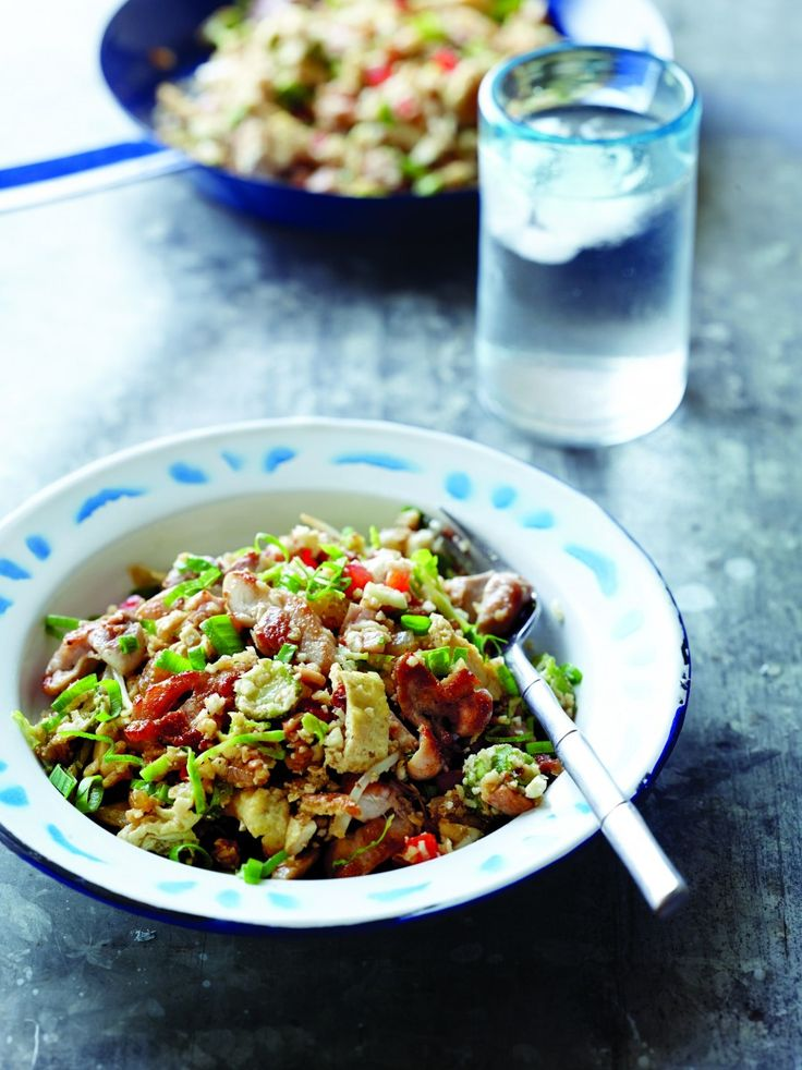 Above photo: Chef Pete Evans says his Cauliflower Fried Rice With Chicken is easy to master.  |