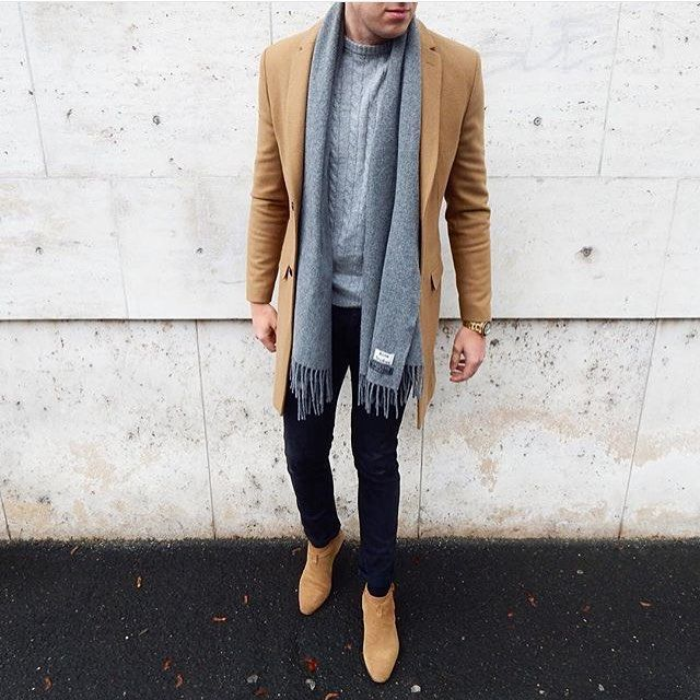 This colour combination  Jacket: @zara Sweater: @hm Scarf: @acnestudios Shoes…