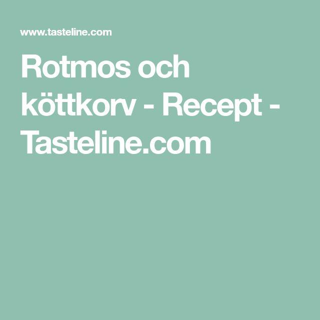 Rotmos och köttkorv - Recept - Tasteline.com