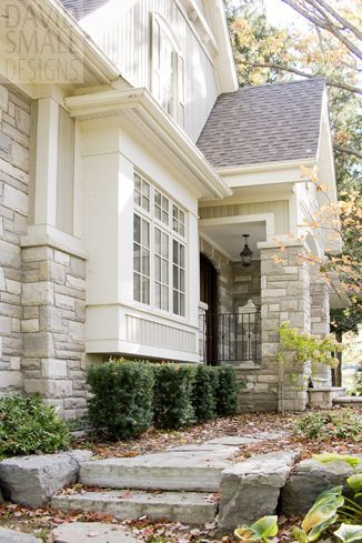 Like the color and finish work on the pop out- Add corbels underneath? still use metal roof?