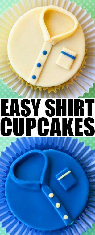 Father's Day Shirt Cupcakes via @cakewhiz