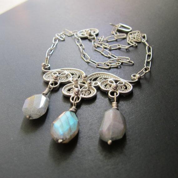 Handmade Sterling Silver Filigree Cheaki Monki by Annabelsgifts, $275.00