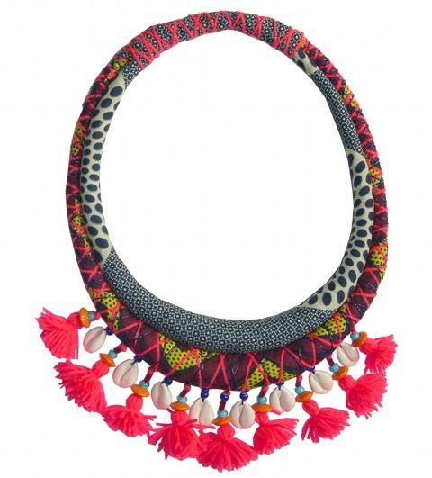 www.cewax.fr aime ce collier plastron style ethnique tendance tribale Toubab paris
