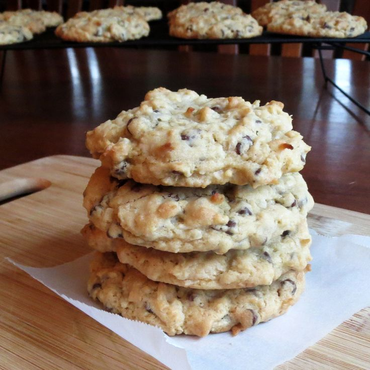 Coconut Chocolate Chip Cookie | cookie monster strikes again | Pinter ...