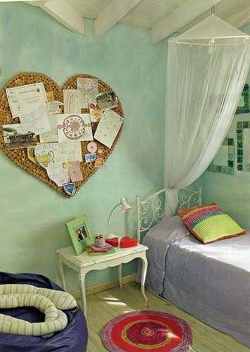 Me gusta mucho el estilo vintage para el cuarto de los chicos..