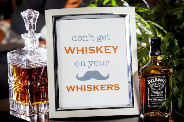 Mustache groomsmen party sign | Knox Wedding Creative | see more on: http://burnettsboards.com/2014/12/party-gents/