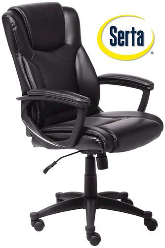 Menards Office Chairs Chair Gym Total Body Serta Bonded Leather At