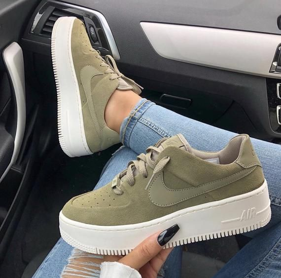 Swarovski Nike Air Force 1 Sage Low Women Casual Sneakers ...