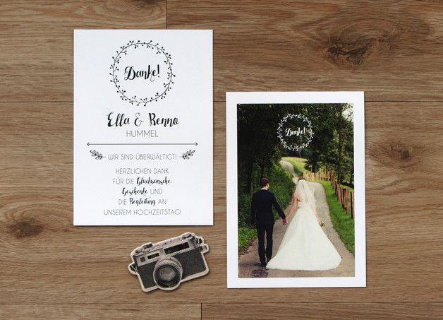 Dankeskarte | Hochzeit | Wir heiraten!