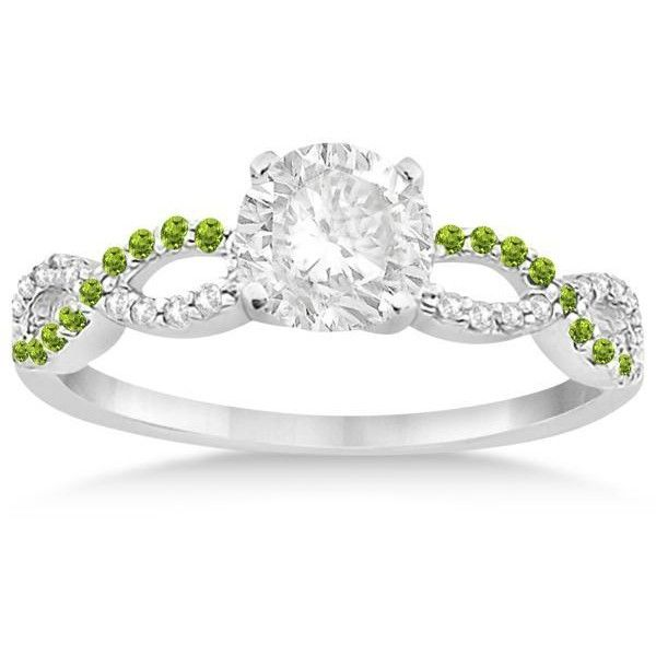 Allurez Infinity Diamond & Peridot Engagement Ring in 14k White Gold…