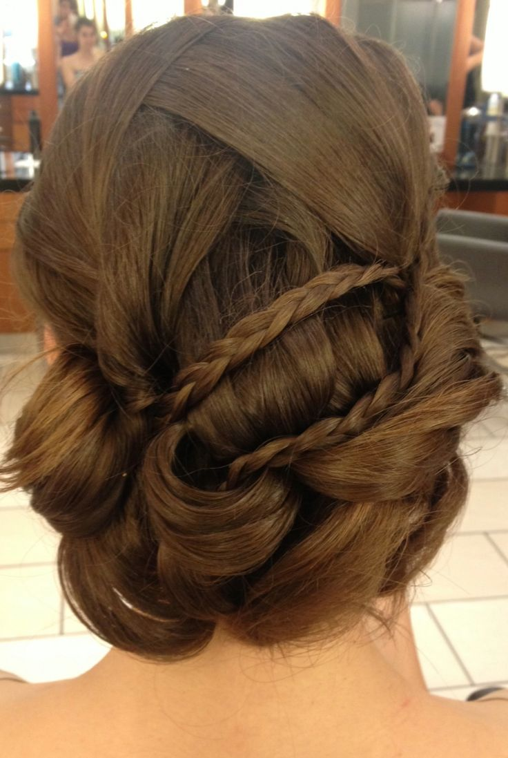 Add a few braids to your Bridal Hair Style.  #hair #hairstyle #bridalhair #wedding  www.donato.ca