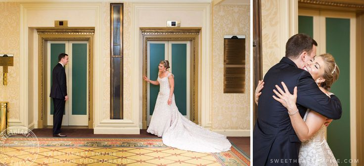Wedding Reveal at the Ritz Carlton Toronto #sweetheartempirephotography #firstlook