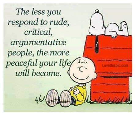 rude critical people life quotes quotes life quote charlie brown snoopy