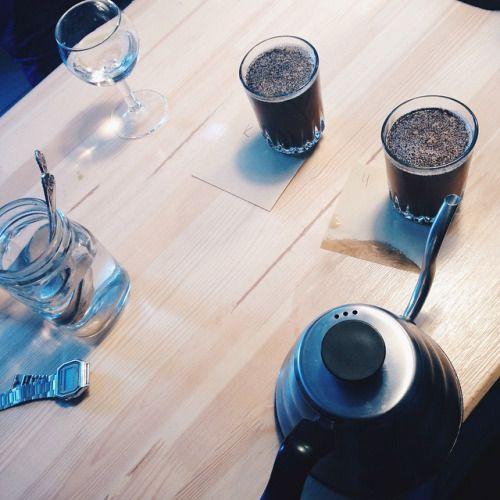 Сегодня пробовали Руанду нимашеке пиберри обжарки #kaffa и @chernyicooperative 🙌 По счастливой случайности совпало и зерно, и приезд Артема. Артем, были очень рады встрече🙏 #coffee #coffeespb #coffeeshop #coffeetogo #кофе #кофеспб #кофекофе...