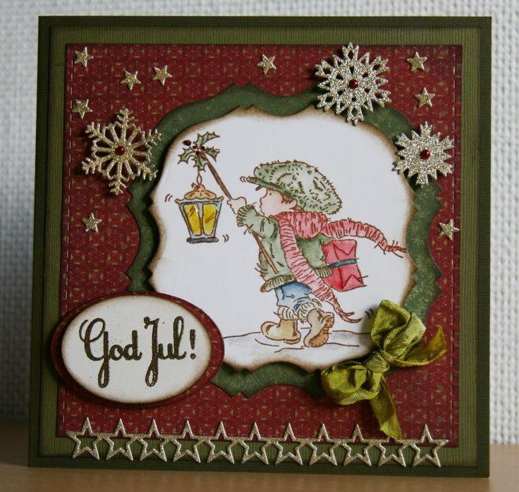 Julekort nr. 3 Håndlavet af Ann Baird