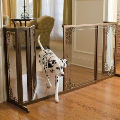 "34""H Expandable Free-standing Mesh Pet Gate"