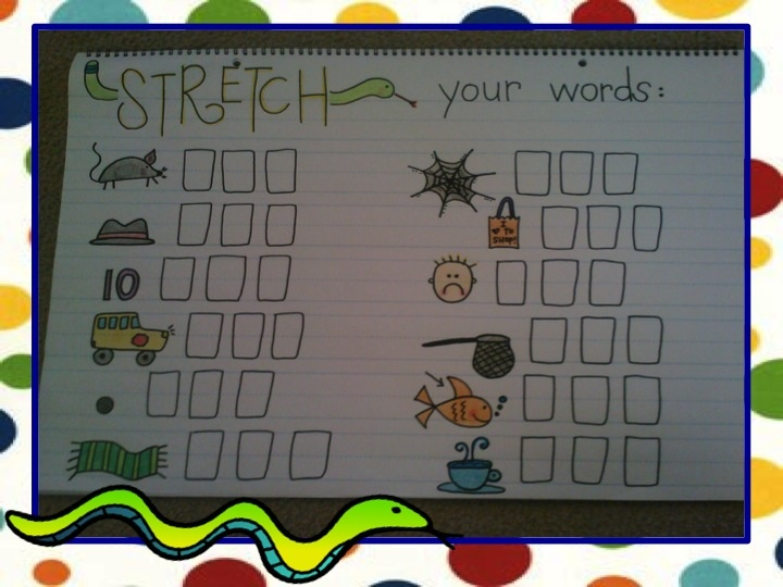 stretch your words - great for morning message