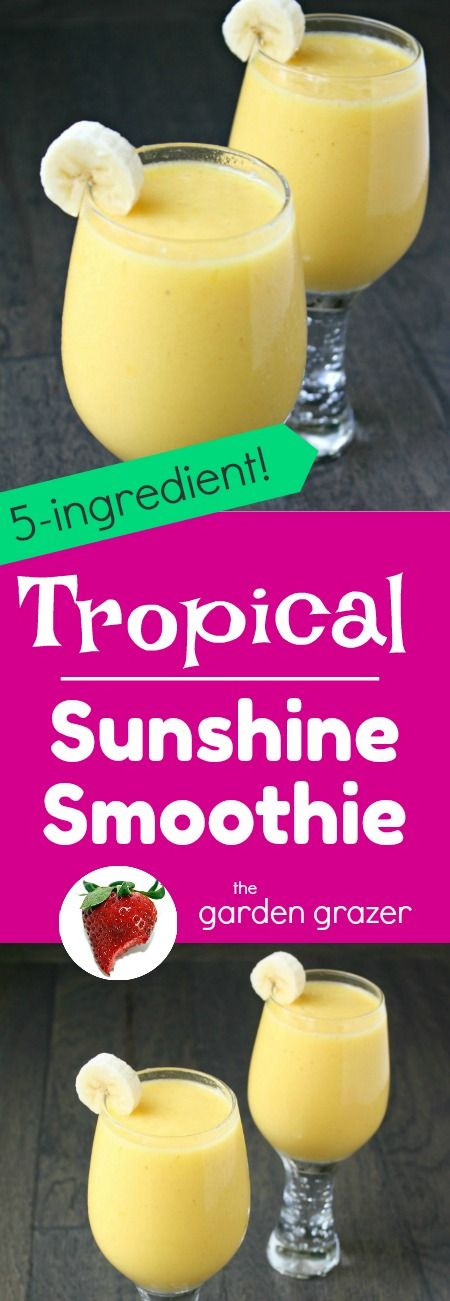Creamy and AMAZING - the smell alone transports me to a tropical island! Made with banana, mango and pineapple (vegan, gluten-free)