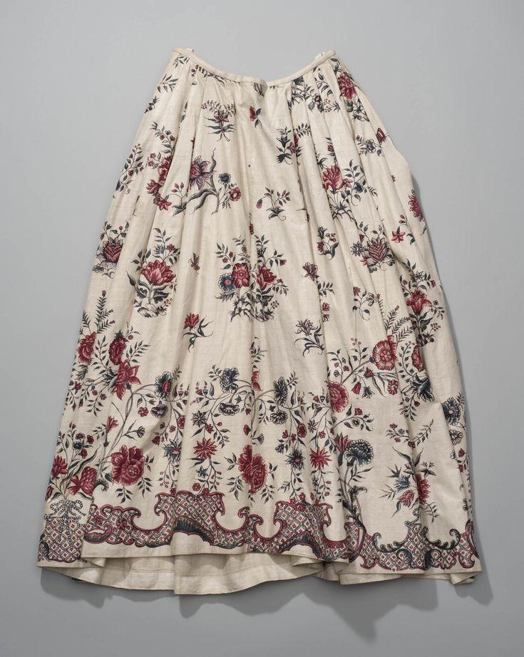 rok van Indiase sits met randdessin, 1750-1775, Zaanstreek